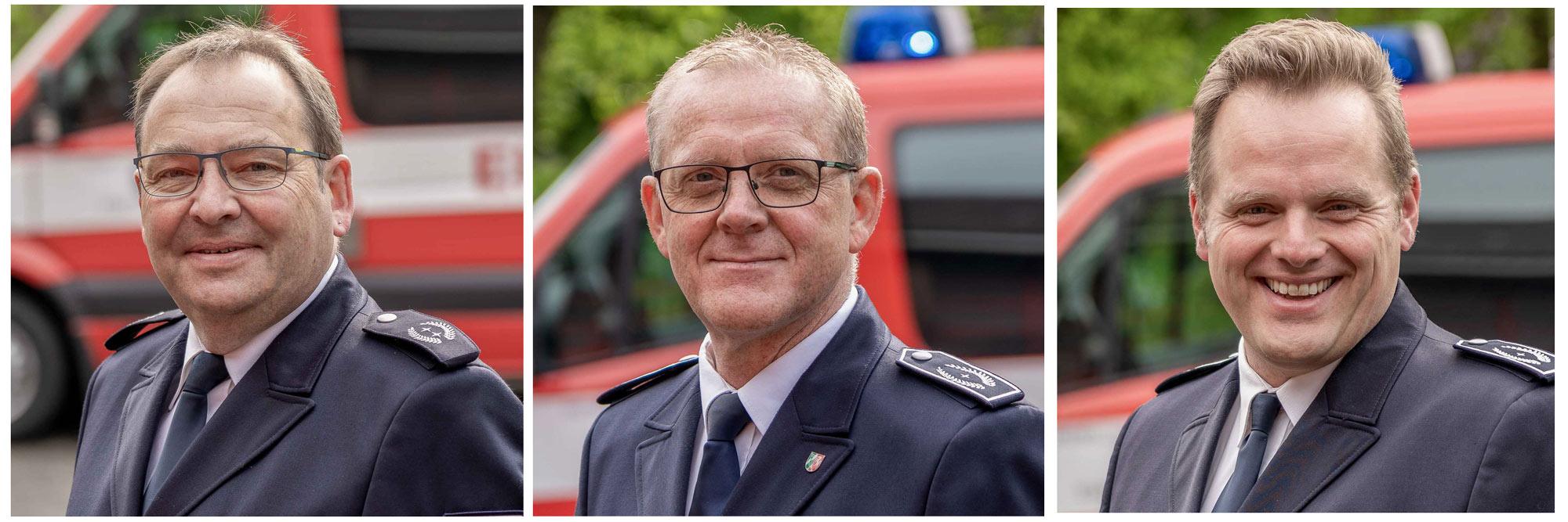 Unser Wehrleitungsteam der Freiwilligen Feuerwehr Billerbeck (07.2020) | © Photo: Jannis Hellmann