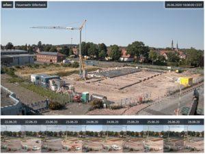Ein Webcam-Blick auf unseren Neubau ...